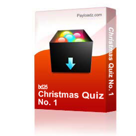 christmas quiz no. 1