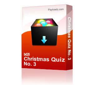 christmas quiz no. 3