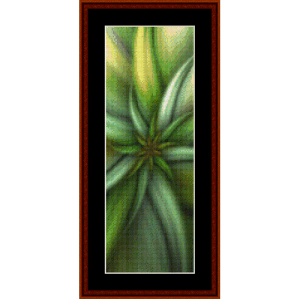 fractal 284 bookmark cross stitch pattern by cross stitch collectibles