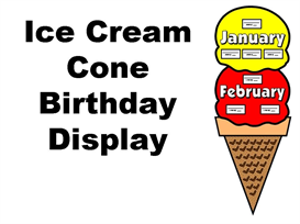 ice cream birthday display set