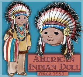 american indian boy doll