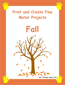 print and create fine motor fall