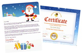 santa letter and nice list combo - gifts design with santa seal certificate