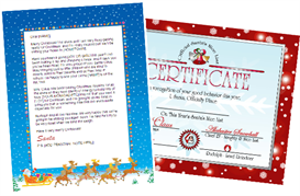 Santa Letter Combo - Sleigh Design with Red Nice List | Other Files | Patterns and Templates