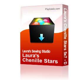 laura's chenille stars 5x7 - dst