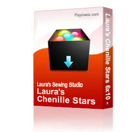 Laura's Chenille Stars 6x10 - PES | Other Files | Arts and Crafts