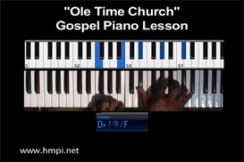ole time church gospel piano lesson