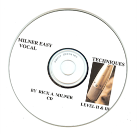 MILNER EASY VOCAL TECHNIQUES LEVEL1&2 cd | Software | Training