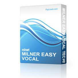 milner easy vocal techniques level 2&3