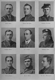 edinburgh university roll of honour 1914-1919 plate 68