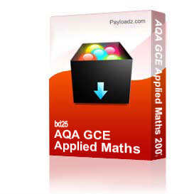 aqa gce applied maths 2007