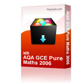aqa gce pure maths 2006