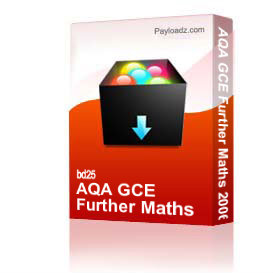 aqa gce further maths 2006