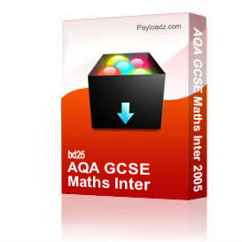 AQA GCSE Maths Inter 2005 | Other Files | Documents and Forms