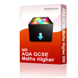 aqa gcse maths higher 2005