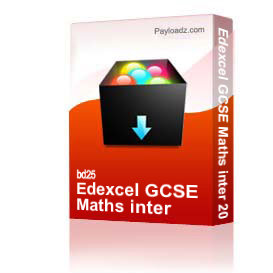 edexcel gcse maths inter 2004