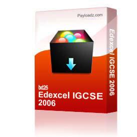 edexcel igcse 2006