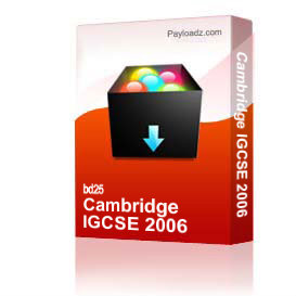 cambridge igcse 2006