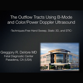 the outflow tracts using b-mode and color/power doppler ultrasound