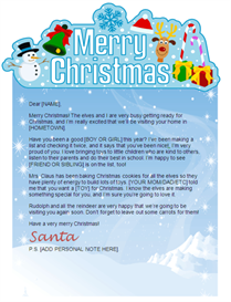 santa letter with merry christmas banner