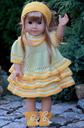 DollKnittingPattern - 0048D GULLTOPP (Gold Top) -Dress,Trousers, Socks and Hair Band | Crafting | Knitting | Other