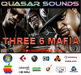 Three 6 Mafia Kit - Soundfonts Sf2 | Music | Soundbanks