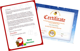 santa letter combo - claus and reindeer with santa seal