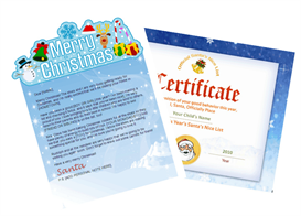 santa letter combo - merry christmas with santa certificate