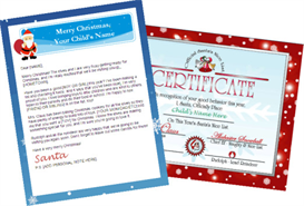 santa letter combo - personalized banner with red nice list