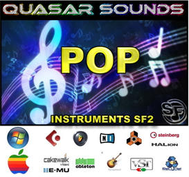 pop music instruments - soundfonts sf2