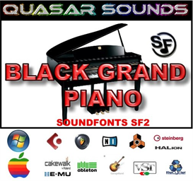 Black Grand Piano Soundfont Instrument | Music | Soundbanks