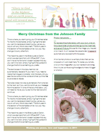 christmas letter template - nativity