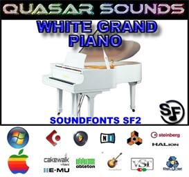 white grand piano soundfont instrument