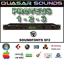 emu proteus 1-2-3 soundfonts sf2