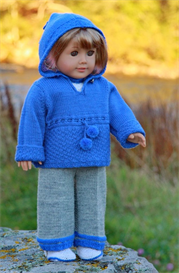 dollknittingpattern 0049d kathy - sweather, blouse, hat, shoes and pant