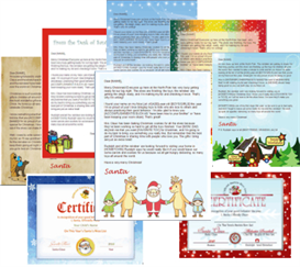santa letter templates - complete package