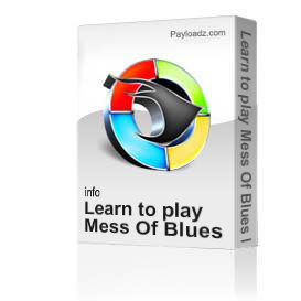 learn to play mess of blues by elvis presley