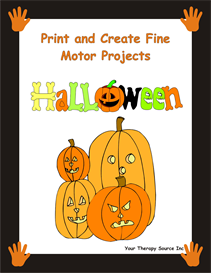 print and create fine motor halloween