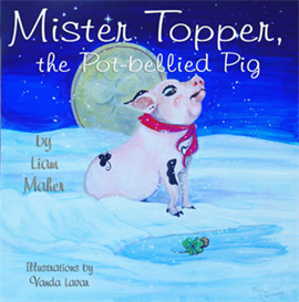 mr. topper, the potbellied pig