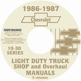 1986-1987 chevrolet truck shop manuals