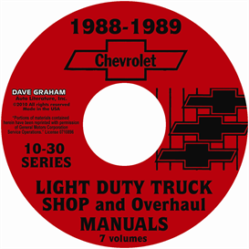 1988-1989 chevrolet truck shop manuals