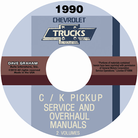 1990 chevrolet truck shop manuals