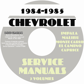 84-85 chevy passenger car shop manuals