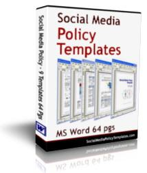 Social Media Policy Templates | Software | Software Templates