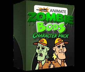 Zombie Bods: Toon Boom Animate Character Template: Hank | Software | Design Templates