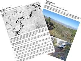 woodchute trail photo guide jerome arizona 4x4 jeep bw printable pdf map
