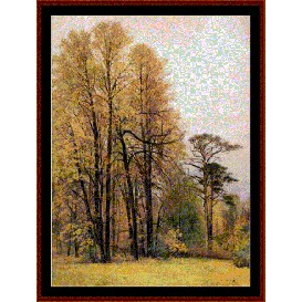 autumn - shishkin cross stitch pattern by cross stitch collectibles