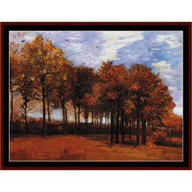 Autumn Landscape - Van Gogh cross stitch pattern by Cross Stitch Collectibles | Crafting | Cross-Stitch | Other