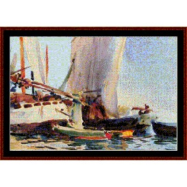 guideca - sargent cross stitch pattern by cross stitch collectibles