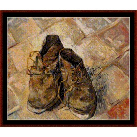 The Shoes - Van Gogh cross stitch pattern by Cross Stitch Collectibles | Crafting | Cross-Stitch | Other